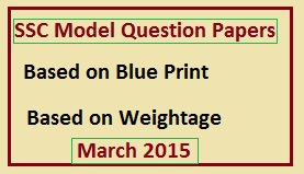SSC Model Question Papers 2014-15,