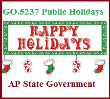GO 5237 Public Holidays 2014 AP State Government