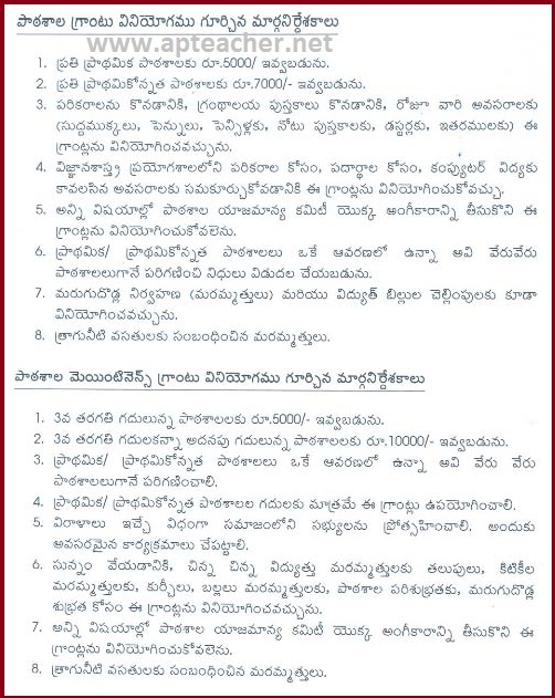 AP Rc 2607 School Grants, Maintenance Grants Utilization Guidelines 2015-16, Utilization Guidelines School Grants, Maintenance Grants  for the Academic Year 2015-16
