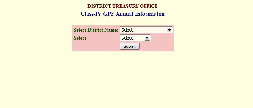 Class IV GPF Slips of AP State Class IV employers GPF Annual