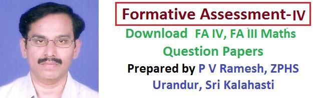 Download Formative-4(FA-IV) Mathematics, MM, Maths VI to X Class