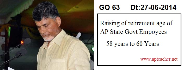 the GO 63 regarding the enhancement of retirement age of state government employees to 60 years from 50 years