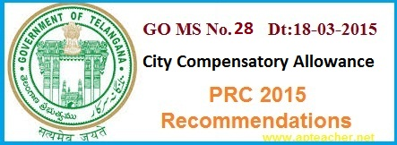 GO 28 revision rates of City Compensatory         Allowance CCA PRC 2015