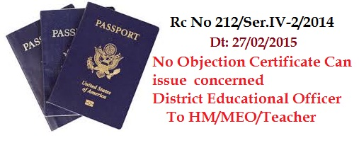 Ap Teacher.net  No Objection Certificate For Passport