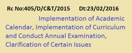 Rc 405  Academic Calendar, Implementation of  Curriculum , Conduct Annual Examination , Rc 405  Implementation of Curriculum and Conduct Annual Examination