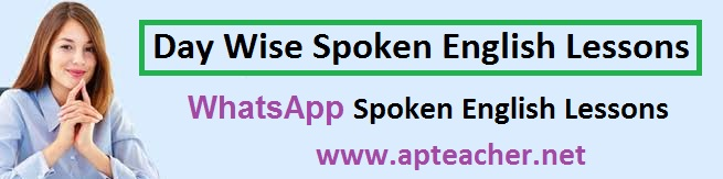 Day Wise Spoken English to Teachers, whatsapp English course, Five Words, Five sentences with appropriate proverbs, English lessons