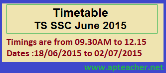 TS SSC Supplementary Examination Schedule June 2015, TS SSC Supplementary Examination Fee Remittance Due Dates