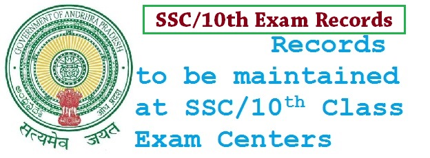 10th Class/SSC Registers Proformas Maintain at Exam Centers by Chief and Departmental Officers, Required Registers, Proformas, Other Examinations Materials  at SSC Exam Centers