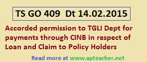 TGLI Policy Payments loan and settlement of claim through CINB, Corporate Internet Banking (CINB) System to TGLI Policy Holders