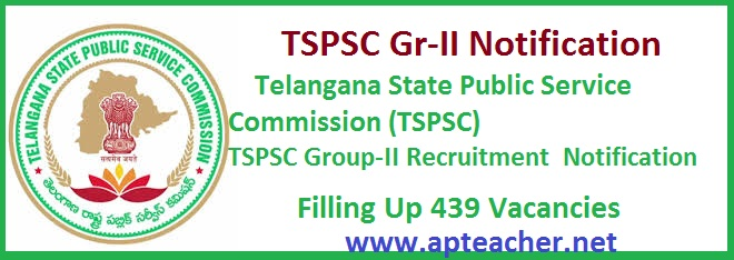 TSPSC Group-II Recruitment for 439 Jobs Notification www.tspsc.gov.in, TSPSC Group-II Jobs NOTIFICATION NO. 20/2015, Dt. 30/12/2015