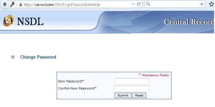 how to change cra login password